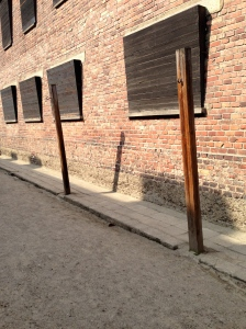 the place where Polish prisoners were hung from their wrists, with their hands tied behind their backs